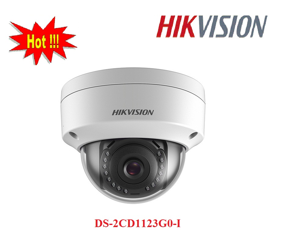 CAMERA IP DOME DS-2CD1123G0-I 2MP